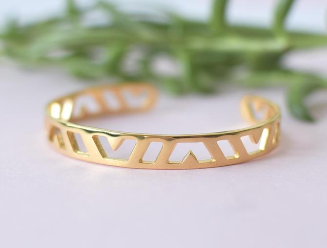 Gold Spectra Cuff Bracelet by Sarah Cecelia by SarahCecelia