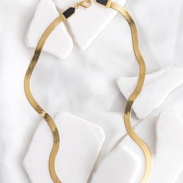 Gold Vermeil and Onyx Eclipse Necklace