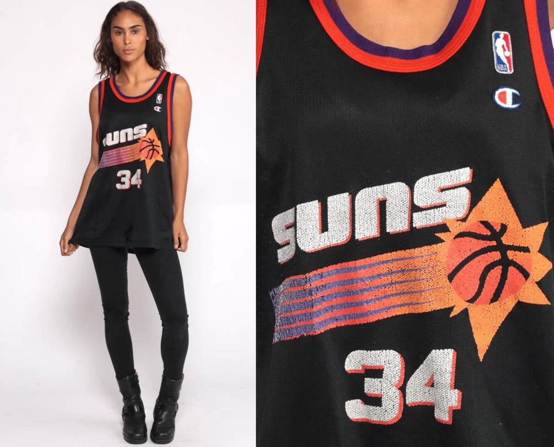 c8d5994c892 Basketball Jersey Tank Top PHOENIX SUNS Shirt 90s Charles Barkley Number 34  Retro Sports Jersey Numbered Vintage Men Medium by ShopExile from Shop  Exile of ...