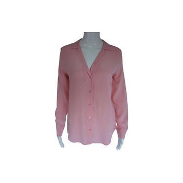 Equipment Pink Adalyn Silk Shirt Button-down Top by MetronomeThreads