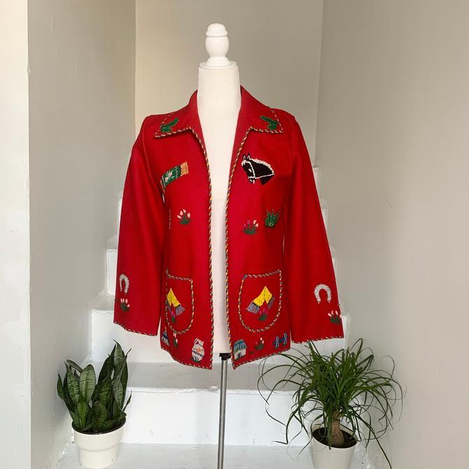 1950s Applique Mexican Souvenir Jacket Incredible Details Size Small Medium Vintage by AmalgamatedShop