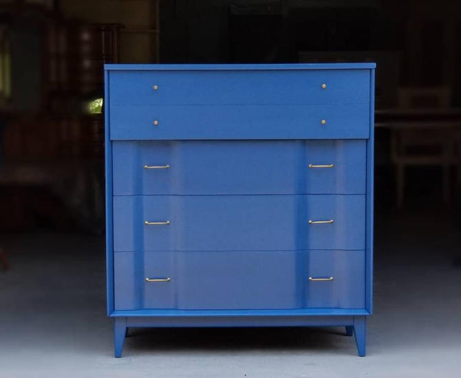 Stunning MCM Blue Dresser / Chest