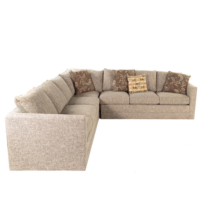 L & G Stickley Upholstered Sectional Sofa