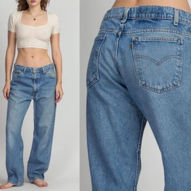 "90s Levi's High Waist Dad Jeans - Men's Medium, Women's Large, 33""   Vintage Medium Wash Denim Baggy Unisex Jeans by FlyingAppleVintage"