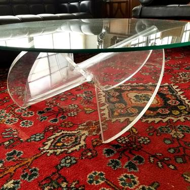 Lucite Propeller Table
