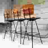 Set of (3) Midcentury Umanoff Style Bar Stools