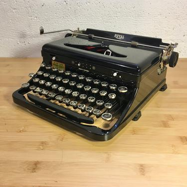 1936 Royal Model O Portable Typewriter, New Ribbon + Spare, Case, Owner's Manual by Deco2Go