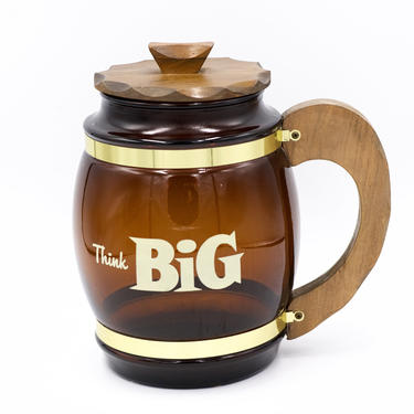 Vintage Siestaware Giant Beer Stein Mug Barware, Think Big, Glassware, Cookie Jar, Siesta Ware Glass, Mid Century Retro Bar Decor by TripodVintage