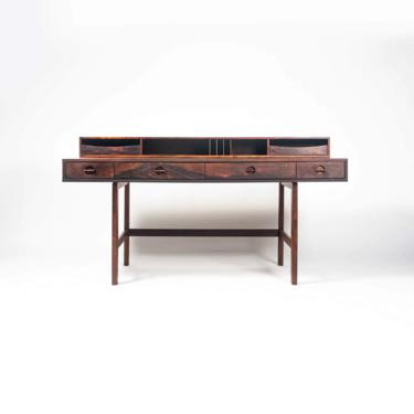 Rosewood Jens Quistgaard for Peter Lovig Executive Flip Top desk by SocialObjects