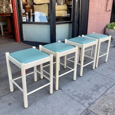 Roommate Romp | Set of Four Lacquered Stools by Lowenstein