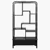 Simple Oriental Uneven Open Curio Display Cabinet ss860S
