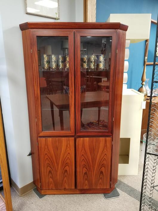 Danish Modern rosewood corner cabinet by Skovby