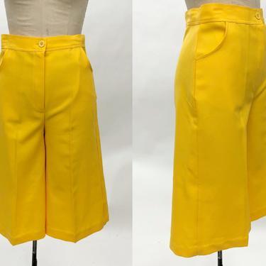 Vintage 1960s Pink Floral Leisure Pants, 60s Linen Pants, Rope Tie Waist, Size Medium by MobyDickVintage