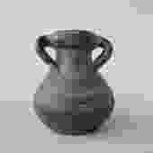 Green Double Handle Stone Vase