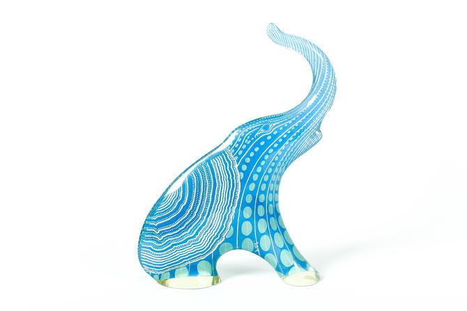 "9"" Vintage Abraham Palatnik PAL Lucite Acrylic Op Art Elephant BLUE by ThePapers"