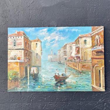 Venice Gondola Scene Painting