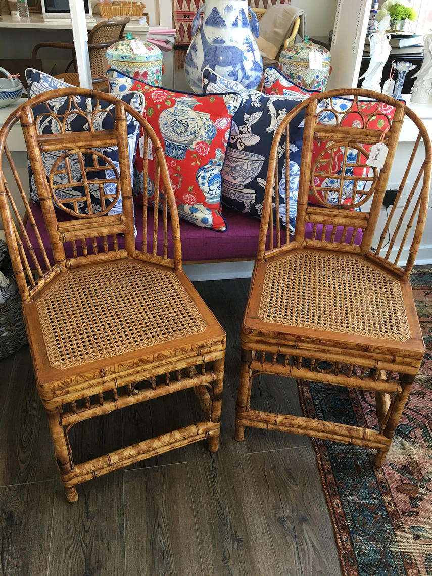 Vintage Bamboo Chairs Chinoiserie Chairs Brighton