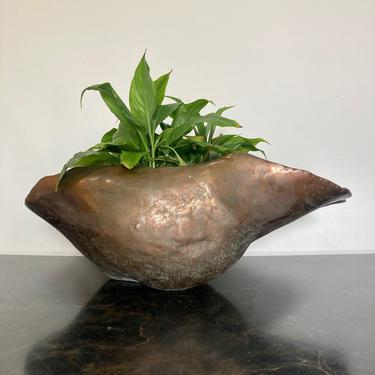 Sculptural Metal Planter or Bowl