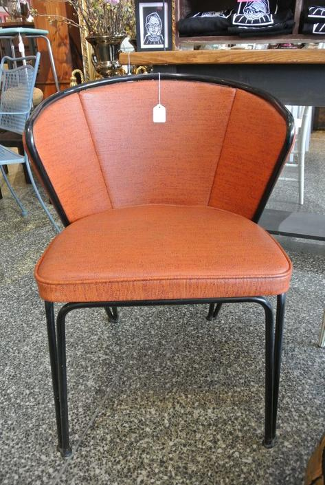 Atomic Retro Orange Chair. $195