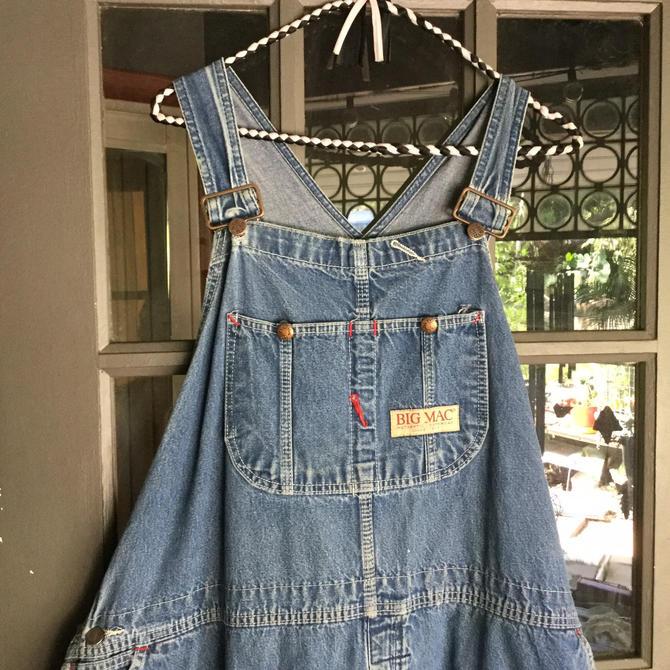 True 80s Big Mac XXL work trousers bibs overalls dungarees chore pants USA by BrainWashington
