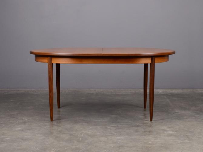 Mid Century Oval Dining Table by G-Plan Teak Danish Modern by MadsenModern