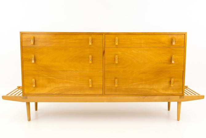 Stanley Young for Glenn of California Mid Century Modern 6 Drawer Dresser on Bench - mcm by ModernHill