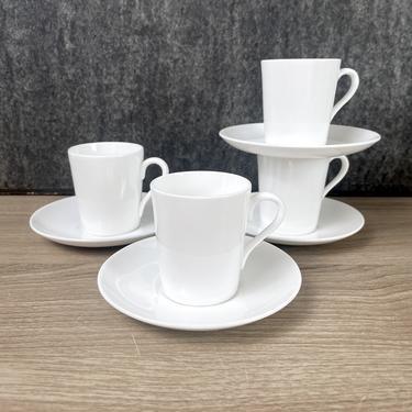 Gustavsberg SA service espresso cups and saucers - set of 4 - Stig Lindberg - 1950s vintage by NextStageVintage