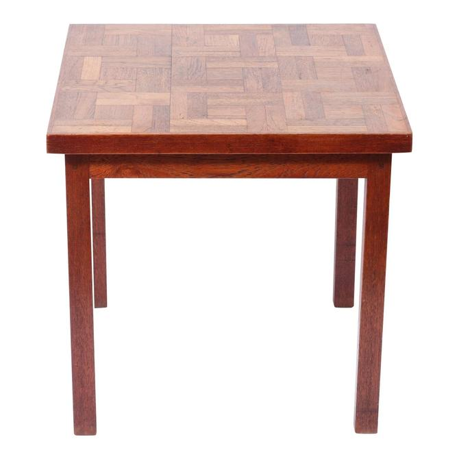 Mid-Century Modern Wood Square Top Side Table