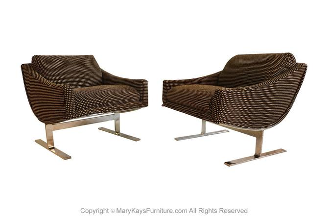 "Mid Century Kipp Stewart ""Arc Lounge Chairs"" for Directional by Marykaysfurniture"