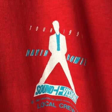 Vintage DAVID BOWIE Tour 1990 Sound+Vision Red T-shirt Sz Xl by vaniageneralstore