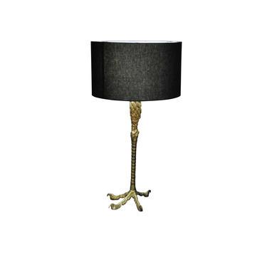 Ostrich Leg Lamp 1940's with Custom Black Shade