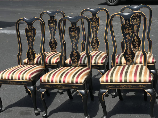 Set of six Drexel Heritage asian dining chairs by HolbrookBazaar