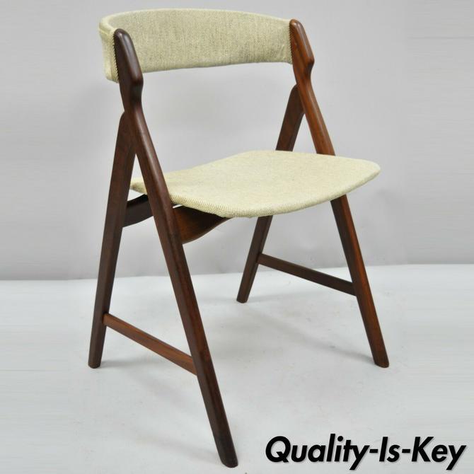 Mid Century Danish Modern Teak A-Frame Dining Chair by T.H. Harlev Farstrup