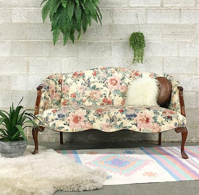 LOCAL PICKUP ONLY ----------- Vintage Floral Loveseat by RetrospectVintage215