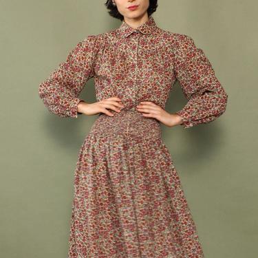 Umba Ditsy Floral Peasant Dress S