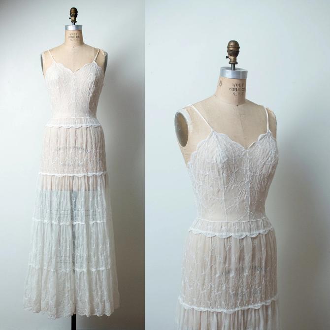 1940s Sheer Nylon Dress by FemaleHysteria