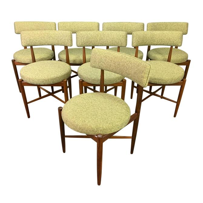 Set of Eight Vintage British Mid Century Modern Teak Dining Chairs by G Plan by AymerickModern