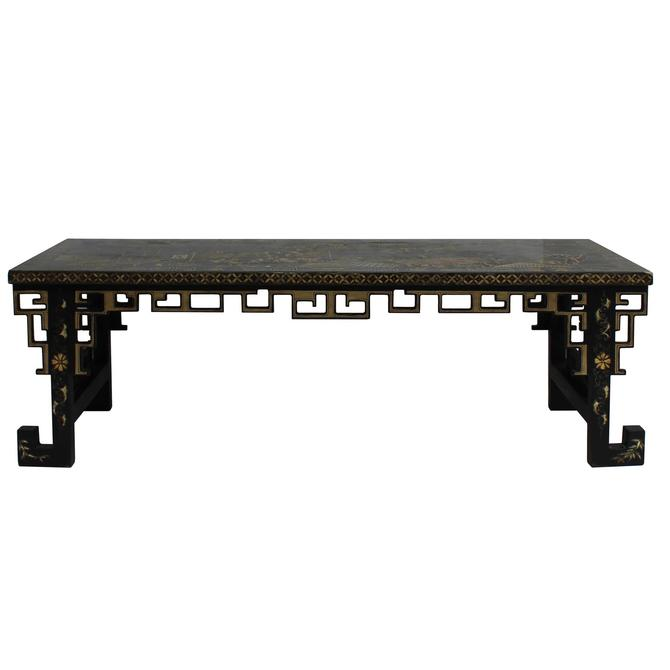 Chinese Lacquered Song Ming Style Low Kang Table Zither Stand cs5113S