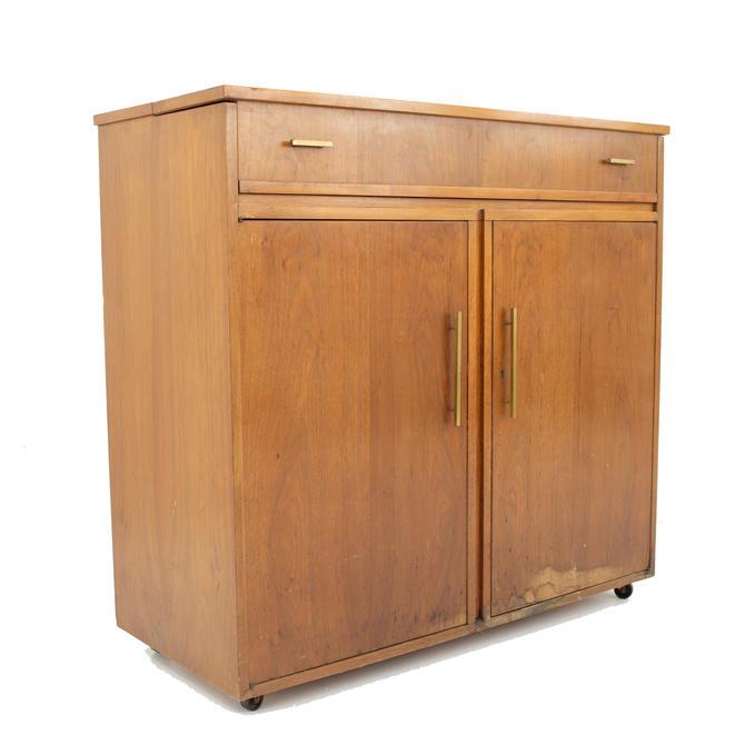 Mid Century Walnut Refrigerator Bar - mcm by ModernHill