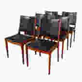 Set of 6 Johannes Andersen Danish Teak Dining Chairs for Uldum Mobelfabrik