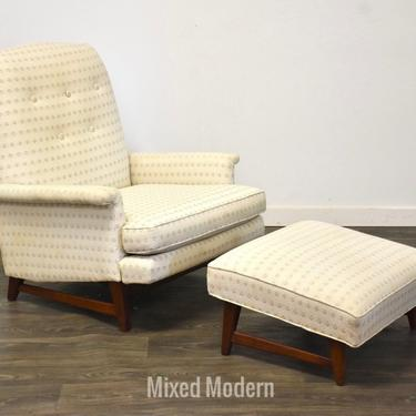 Walnut Mid Century Lounge Chair by mixedmodern1