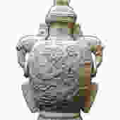 Chinese Ceramic White Dragon Elephant Ear Jar vs298E by GoldenLotusAntiques