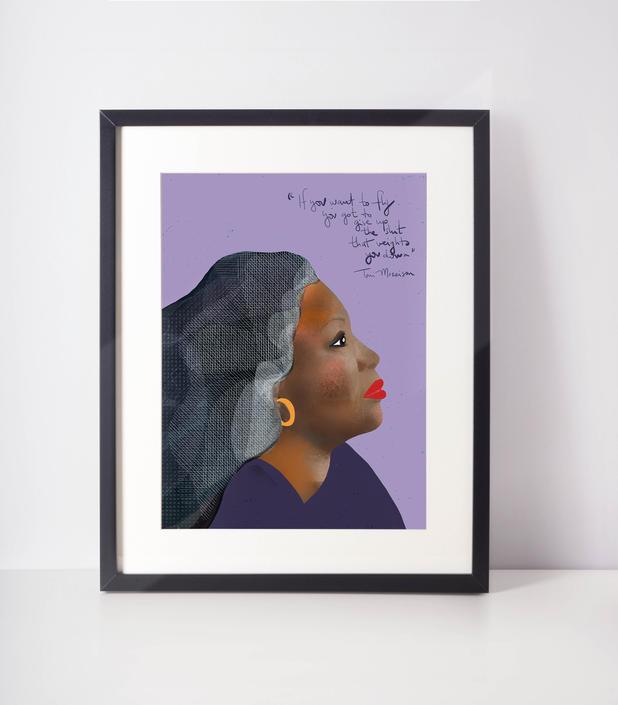 Toni Morrison fan art cubicle decor inspiration by VioletredStudio