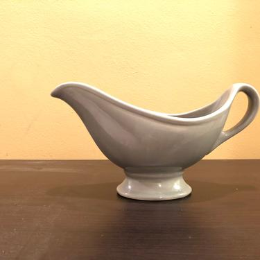 Vintage Hall China Gray Gravy Boat Mid Century Modern Art Deco by OverTheYearsFinds