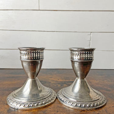 Vintage Pair Mayflower Weighted Sterling Silver Candlestick Holders   Ornate Candlestick Holders Silver Set by CuriouslyCuratedShop