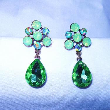 Green Crystal earrings...Gorgeous! by AllMyItems