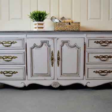 French Country Dresser Grey Commode Wardrobe 12 Drawers Drexel Heritage Furniture By