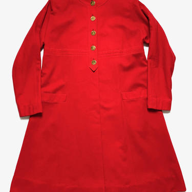 Vintage 1950s Women's WOOL FLANNEL Overcoat / Trench Coat ~ size S ~ Jacket / Swing ~ 50s by SparrowsAndWolves