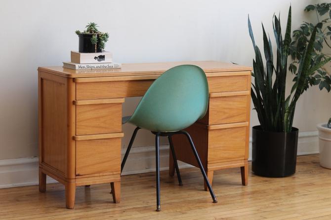Mid Century Modern Art Deco Maple Desk by SharkGravy