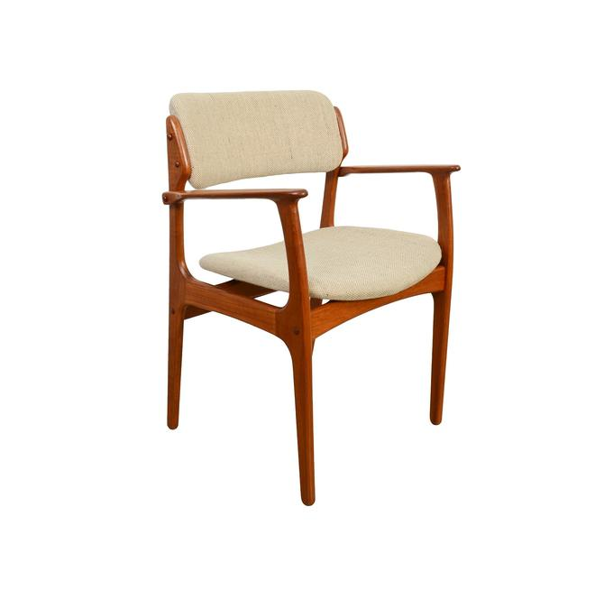 Teak Arm Chairs Erik Buck Danish Modern OD Mobler Dining Chair by HearthsideHome